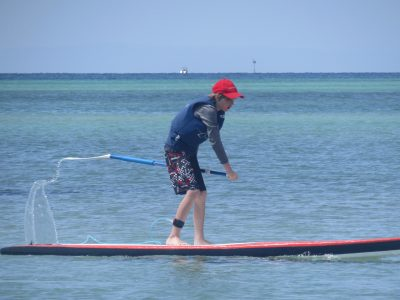 Noah on his SUP